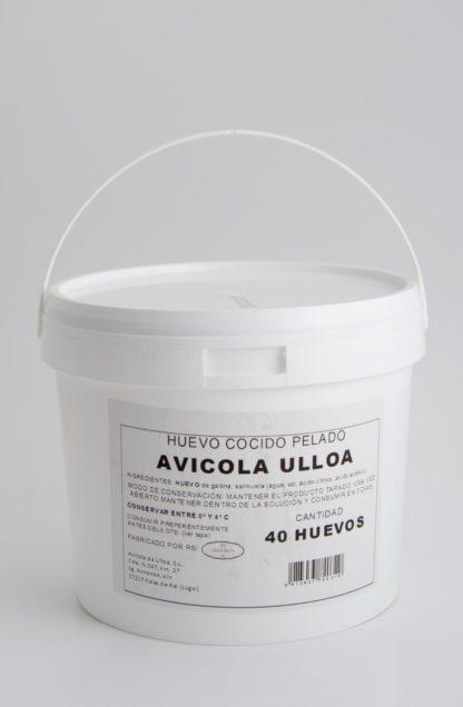 HUEVO GALLINA COCIDO PELADO CUBO 40 UNID.