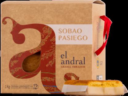 SOBAO PASIEGO MANTEQUILLA EL ANDRAL 83GR.X12 CAJA 1 KG.